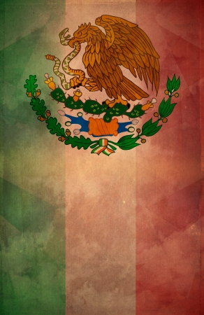 Mexican Grunge poster background - flag