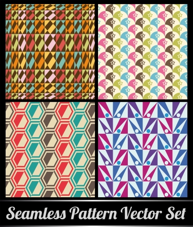 reapeating: Geometric set of seamless patterns for kid girls