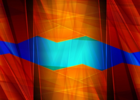 Abstract design, blue and red color, background photo