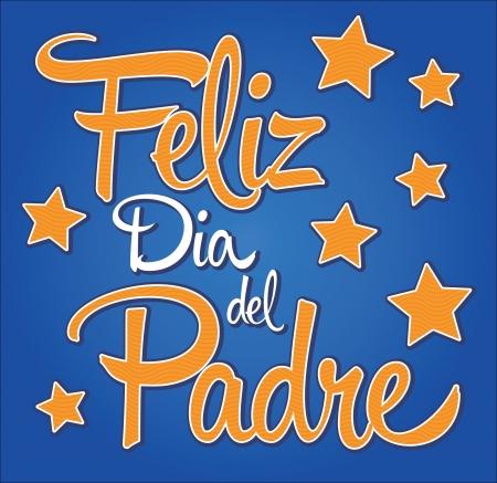 Feliz dia de padre - spanish text Happy fathers day card