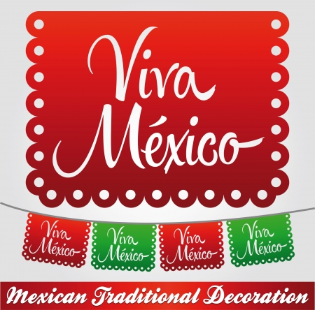 Viva Mexico - mexican holiday decoration 일러스트