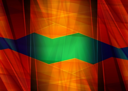 Abstract design, green and orange color, background - fractal photo