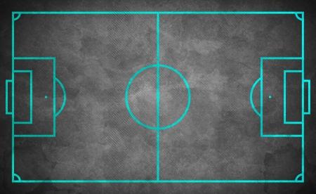 green lines: street soccer field in dark grunge style - green lines