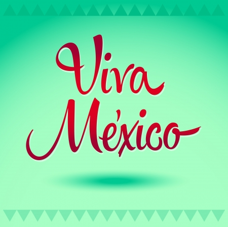 spanish food: Viva Mexico - mexican holiday vector decoration