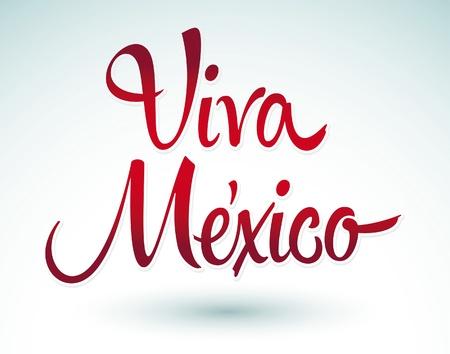 Viva Mexico - vector lettering title  일러스트