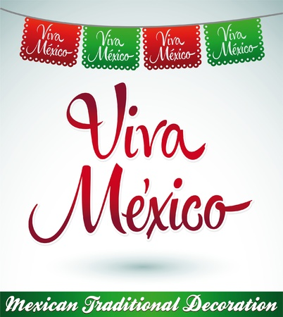 street party: Viva Mexico - mexican holiday vector decoration