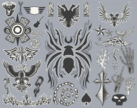 Variety of Tattoo  - tribal vector set - collection - elements Vector