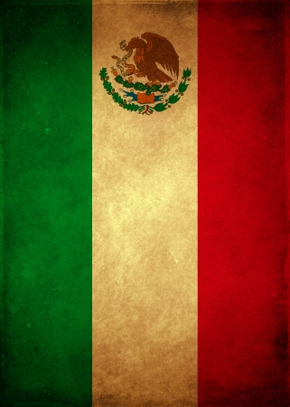 Vintage Mexican poster - card template  스톡 콘텐츠