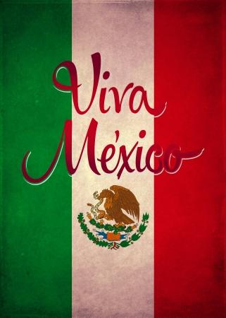 california flag: Vintage viva mexico poster