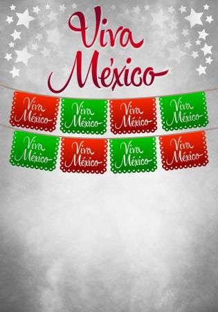 mexico flag: Vintage grunge viva mexico poster