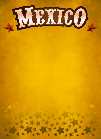 president of mexico: grunge western poster - mexican cowboy style card