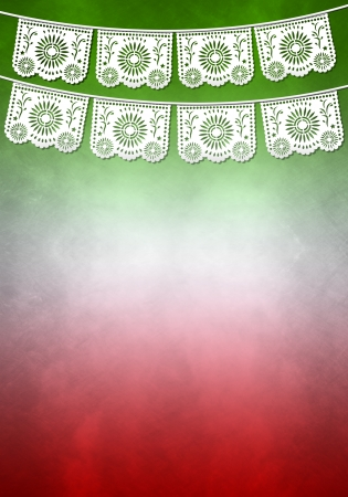 mexican decoration poster template - copy space