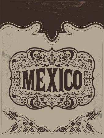 Vintage Mexico - mexican vector poster