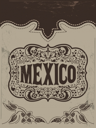 wild west: Vintage Mexico - mexican vector poster