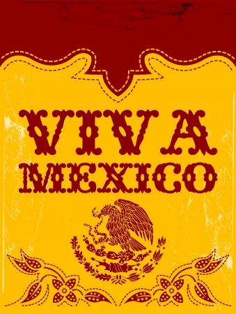 ビバメキシコ - メキシコの休日ベクトル ポスター  イラスト・ベクター素材