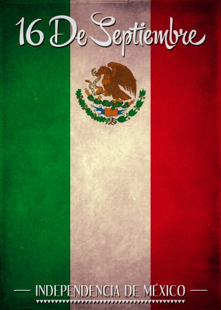 September 16 Mexican independence day spanish text