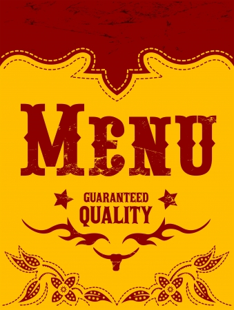 western food: Restaurant menu design