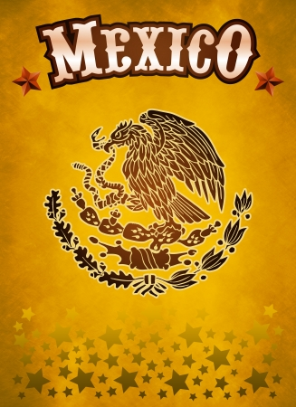 president of mexico: Mexico western style poster Stock Photo