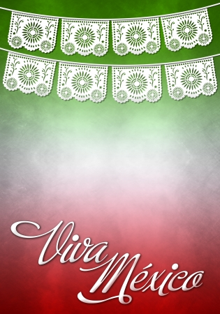 president of mexico: Viva mexico poster - mexican paper decoration