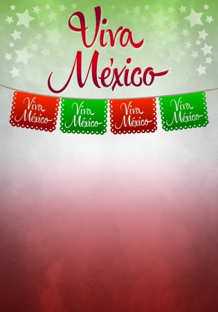 president of mexico: Viva mexico poster - mexican paper decoration - copyspace