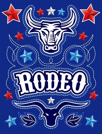 rodeo americano: Americana Rodeo poster - plantilla de la tarjeta