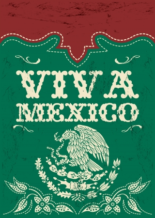 Vintage Viva Mexico - mexican holiday poster