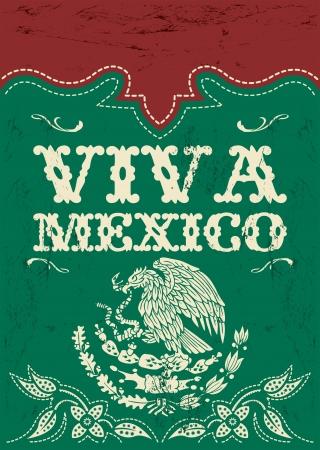 Vintage Viva Mexico - Mexicaanse vakantie poster Stockfoto - 21933776