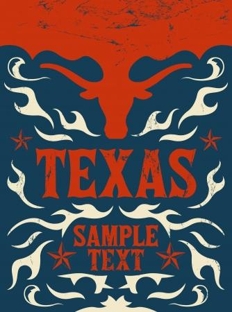 Texas Vintage poster  일러스트