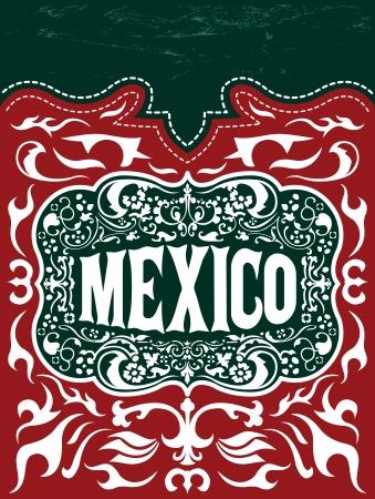 Vintage Toeristische Wenskaart - Mexico - poster - menu Stockfoto - 21982724