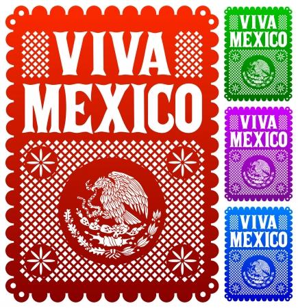 Viva Mexico - mexican holiday vector decoration