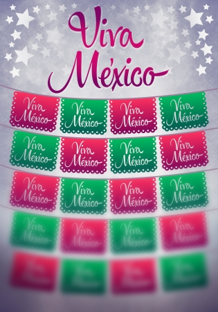 president of mexico: Viva mexico poster - mexican paper decoration - copy space