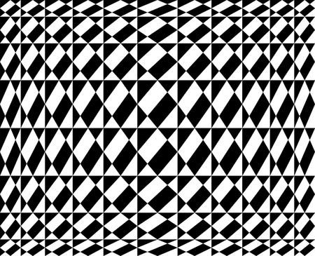 Seamless geometric pattern in op art design  Vector art  Vector