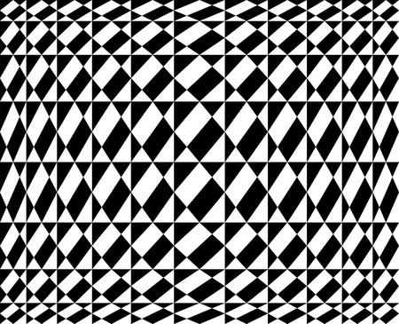 bauhaus: Seamless geometric pattern in op art design  Vector art