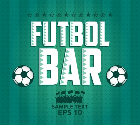 Futbol - football - soccer Bar Menu card design template  Illustration