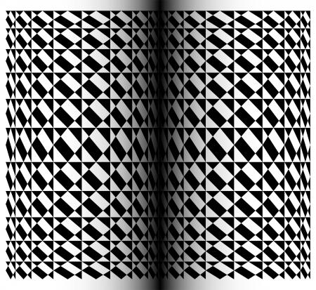 Abstract book - Geometric pattern in op art design  - Vector art  Vector