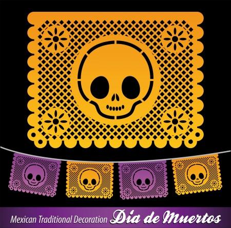 Mexicaanse Dag van de dood vector decoratie Stock Illustratie