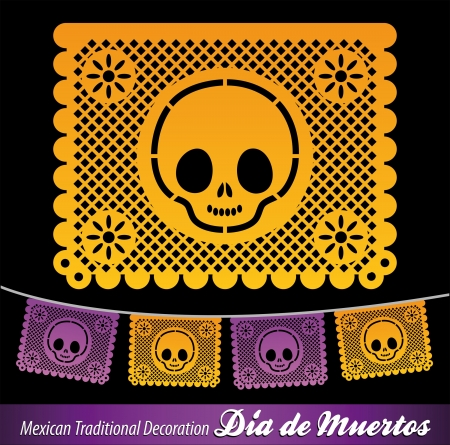 Mexican Day of the death vector decoration  Vector