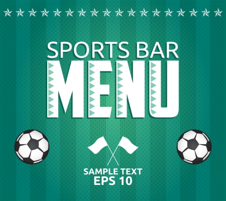 Football - Sports Bar Menu card design template - eps10 Vector