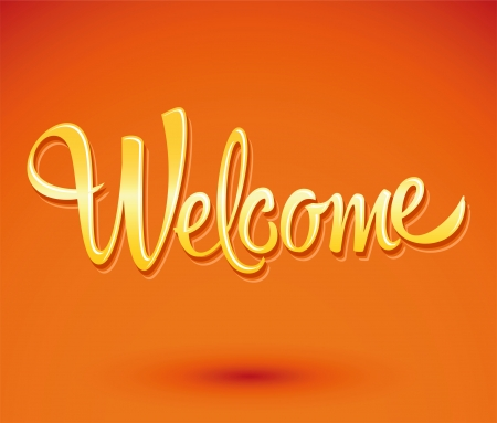 welcome - lettering vector Vector