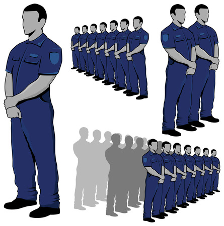 Politie - security guard vector set