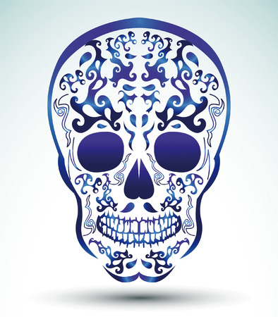 Day of the Dead Skull - tattoo skull Illustration