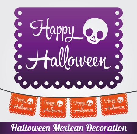 Happy Halloween vector mexican decoration Vector
