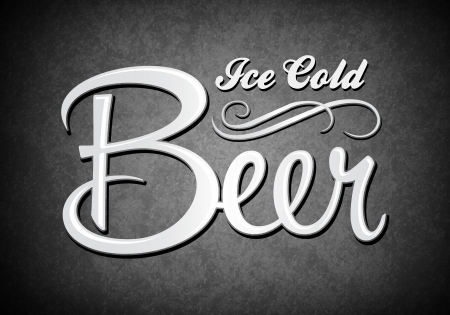irish beer: Vintage sign - Ice cold beer