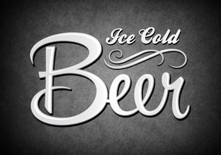 irish pub: Vintage sign - Ice cold beer