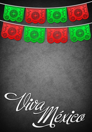 president of mexico: Viva Mexico - Mexican decoration poster template - copy space