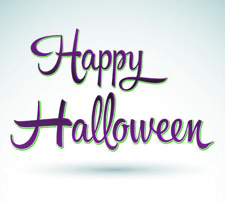 Happy Halloween - lettering - vector illustration
