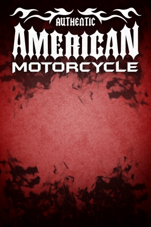 adrenalin: American motorcycle grunge poster - dark style - card design - copy space Stock Photo