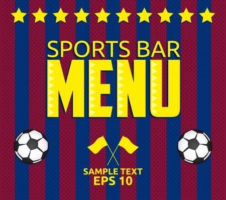 sports bar: Football - Sports Bar Menu card design template - eps10 Illustration