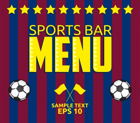 Football - Sports Bar Menu card design template - eps10 Illustration