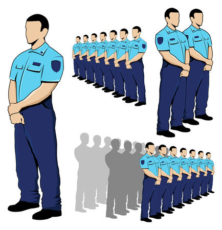 Politie - security guard Stock Illustratie